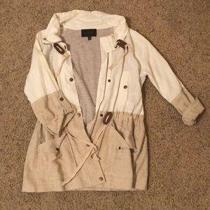 Cream and White Jacket
